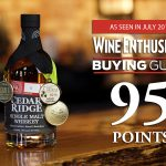 Cedar Ridge Receives 95-POINT Rating from Wine Enthusiast