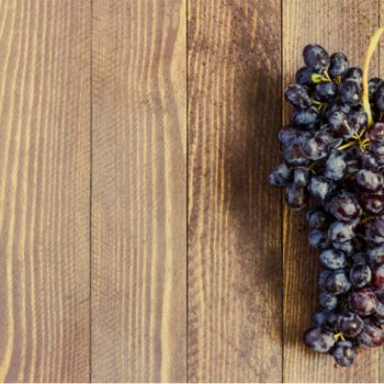 grapes on table