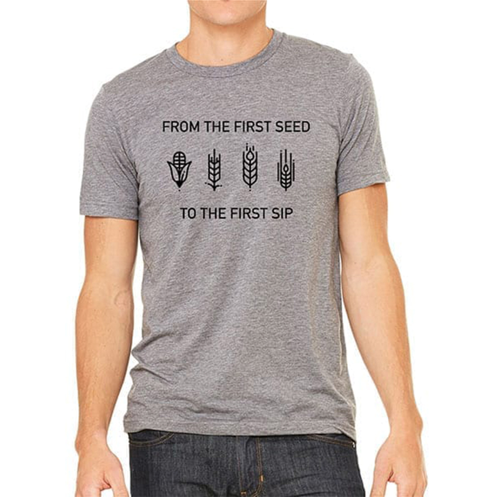 From the First Seed to the First Sip T-shirt
