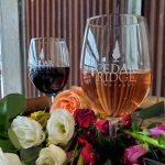 Cedar Ridge wine and flowers